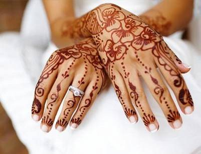 black henna tattoo. Henna has been used for body