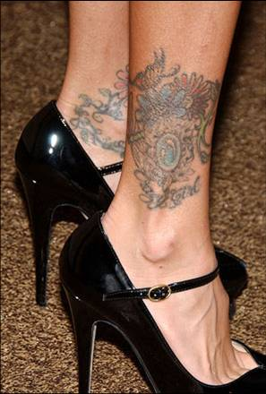 Jenna Jameson ankle tattoo