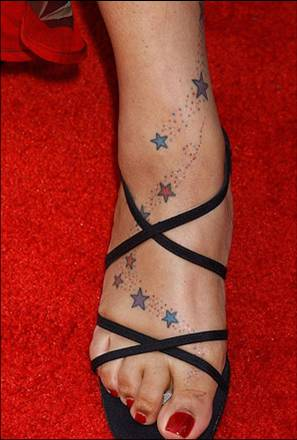 Tattoo on celebrity ankle - Tattoos Book - 65.000 Tattoos ...