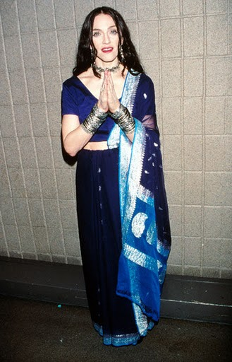 Madonna  in saree