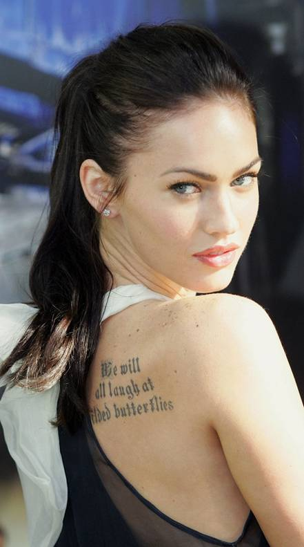 megan fox tattoos. matthew fox tattoo. megan fox