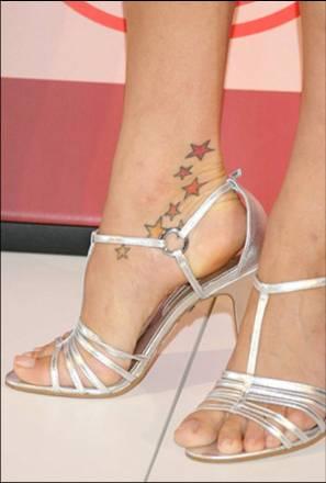 Petra Nemcova ankle tattoo
