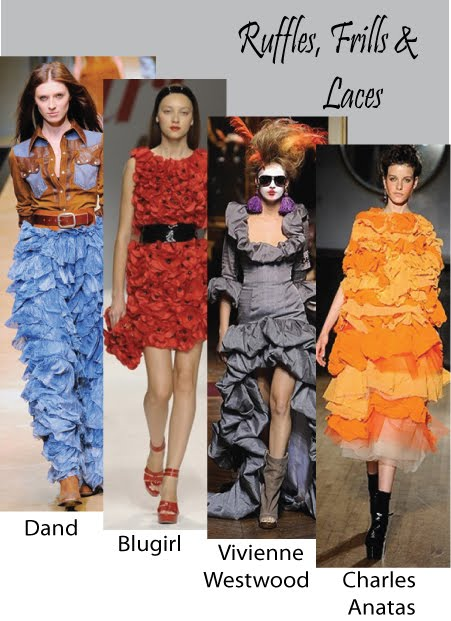 Trends Spring  Summer 2010 (Ruffles and frills)