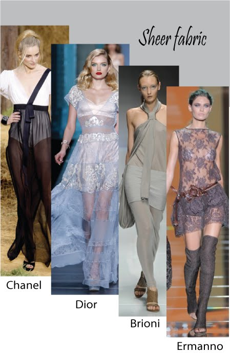 Trends Spring  Summer 2010 (Sheer fabric)