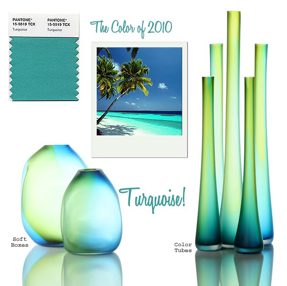 Turquoise Pantone's Color of the Year for 2010--
