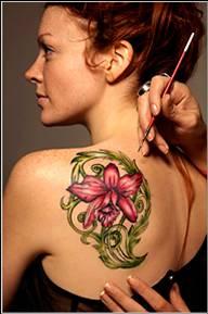 air-brush temporary tattoo