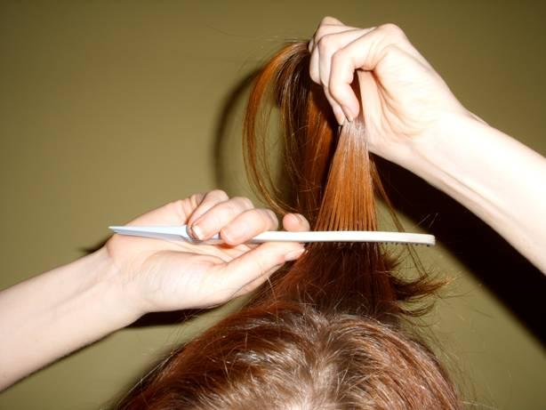back-combing