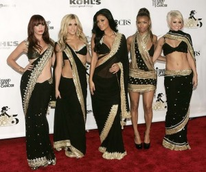 Hollywood celebrities in saree