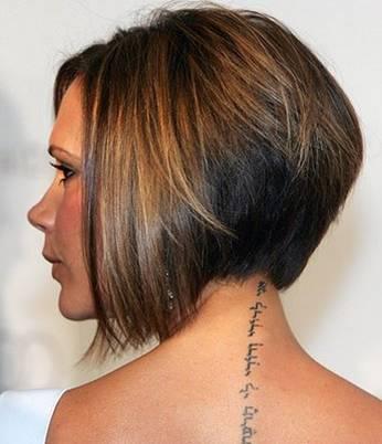 victoria Beckham neck tattoo
