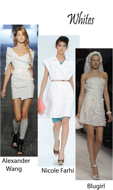 Color trend Spring summer 2010 white
