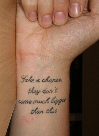 wrist tattos
