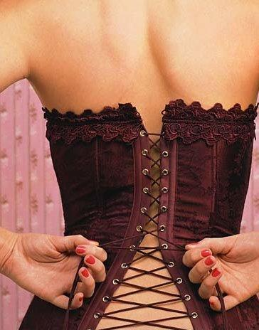 Back lacing corset