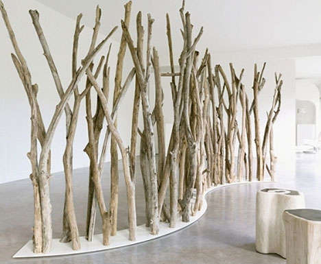 Driftwood room dividers - eco trends