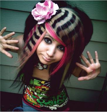 Funky hair color (2)
