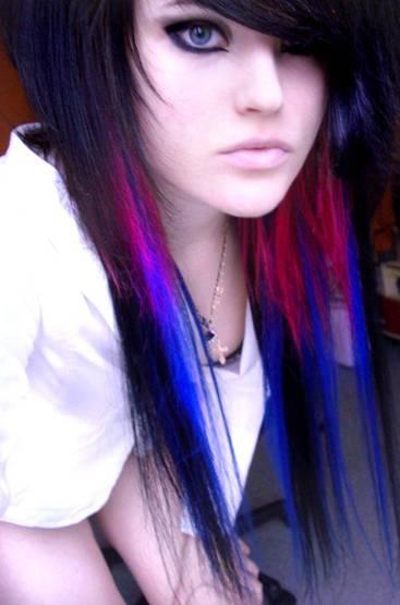 Funky hair highlight colors