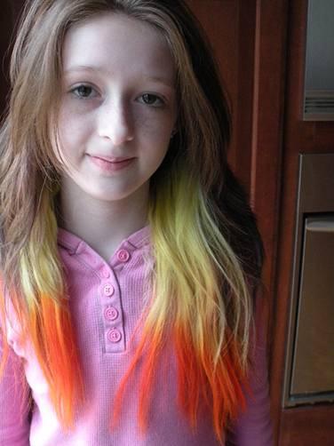 Funky hair highlight