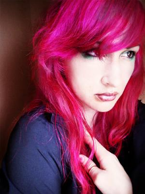 Funky pink hair color