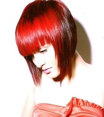 Funky red hair color