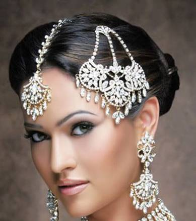 Indian bridal hair jewelry