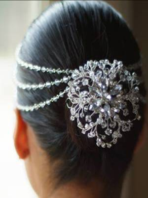 Indian bridal hairstyles / Hair jewelry