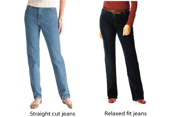 Jeans for curvy women / straight fit