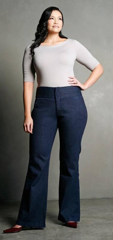 Jeans for plus size  curvy women