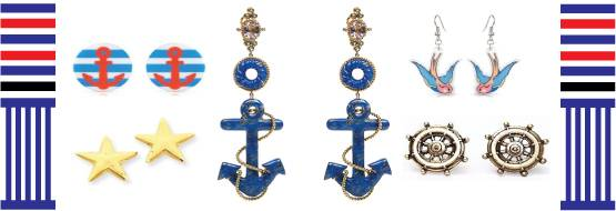Nautical earrings