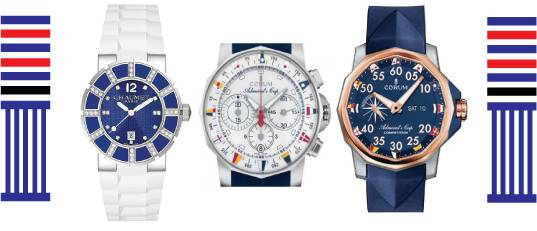 Nautical wrist watch
