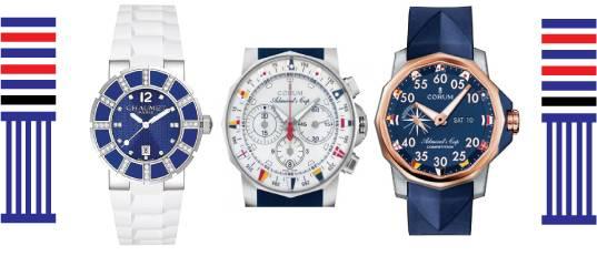 Nautical wrist watch