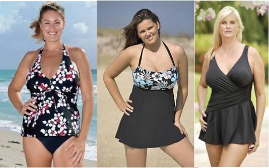 Plus size swimwear / swimsuit / bikini