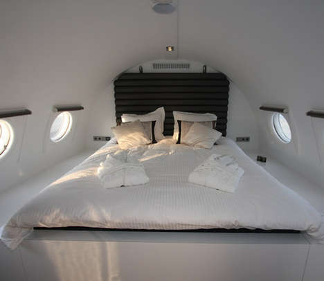 Recycled airplane hotel suites- eco trends