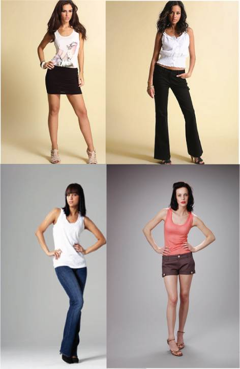 Shorts / trousers for short legs