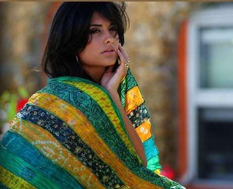 Vintage sari scarves - eco trends