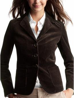 Black corduroy blazer