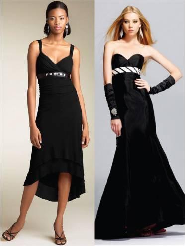 Black party wear women