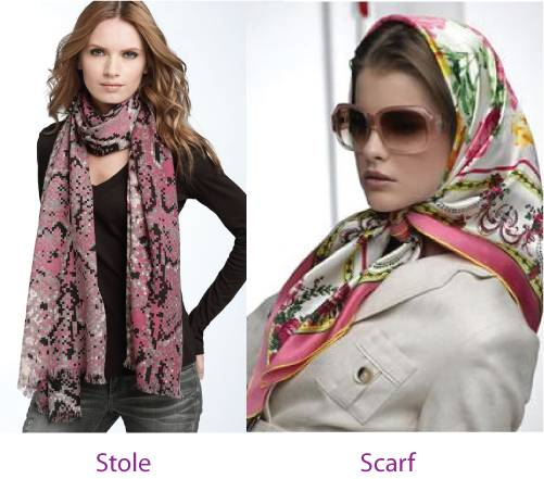 Difference between scarf and stole (2)