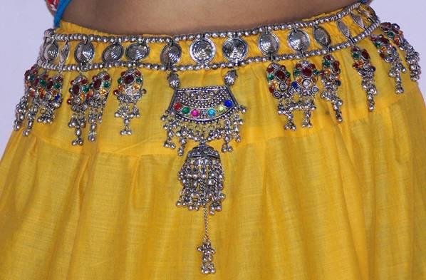 Indian silver waist jewelry