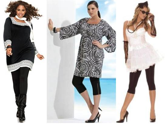 Plus size dresses over leggings