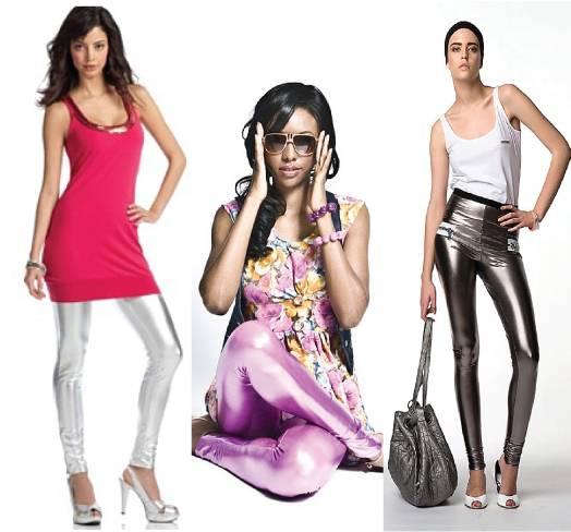 Metallic leggings
