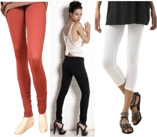 Plain solid color leggings