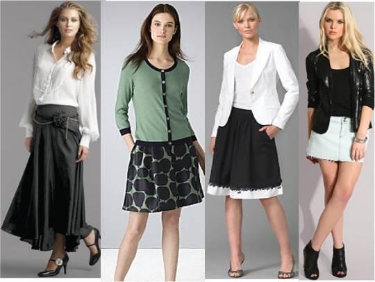Skirts long and short