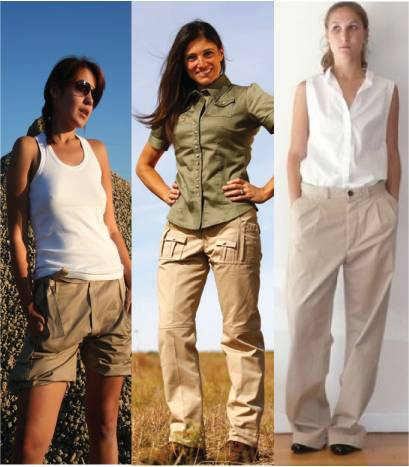Women safari pants
