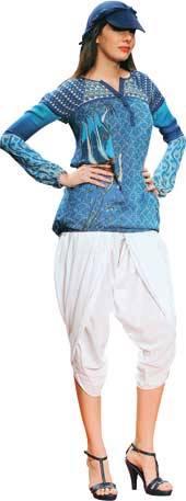 Dhoti pants for Apple body shape