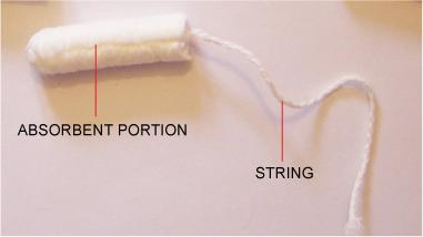 Non-applicator tampon string