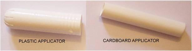 Tampon applicators plastic cardboard