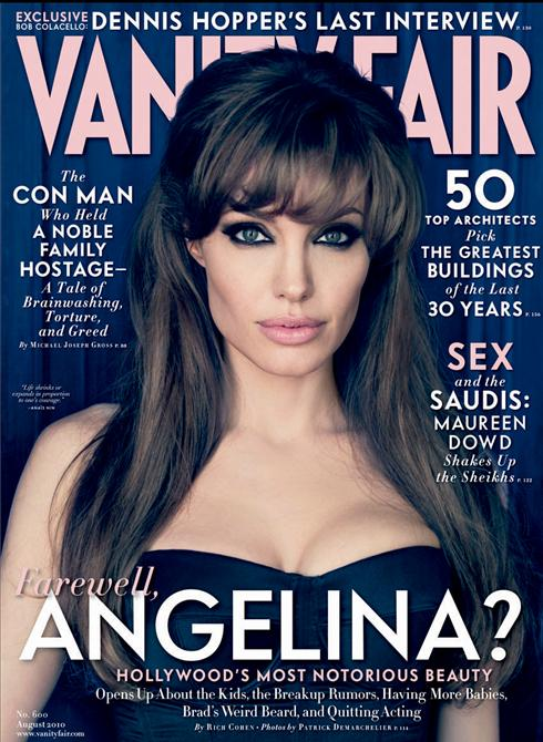 Angelina Jolie for Vanity Fair August 2010