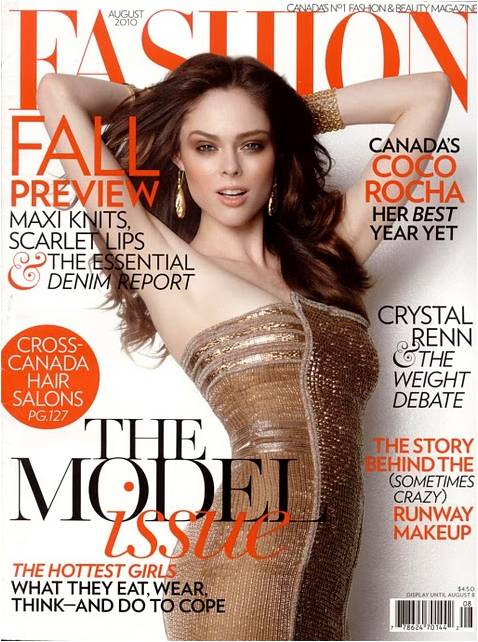 Coco Rocha for Fashion Magazine August 2010