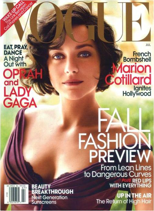 Marion Cotillard for Vogue US July 2010