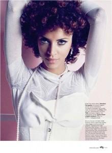 Noemie Lenoir for Elle US July 2010