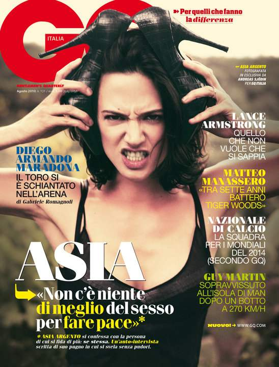 asia argento tattoo. Asia Argento for GQ Italy